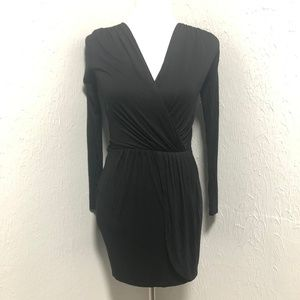 ASOSS Petite Black Wrapped Dress